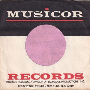 Musicor Records U.S.A. Div. Of Talmadge 826 Seventh Avenue New York N.Y. 10019 Address Thin Red Line Company Sleeve 1965 – 1972