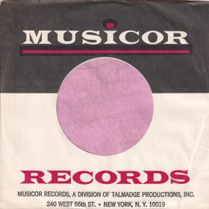 Musicor Records U.S.A. Div. Of Talmadge 240 West 55th St. New York N.Y. 10019 Address Thin Red Line Company Sleeve 1972 – 1974