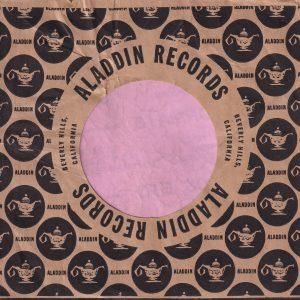 Aladdin Records U.S.A. Company Sleeve 1956 – 1958