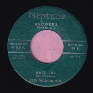 "Baby Washington "" Work Out "" Neptune Records Vg+"