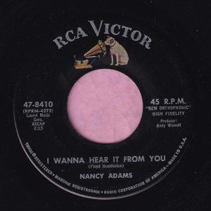 "Nancy Adams "" I Wanna Hear It From You "" RCA Victor Vg+"