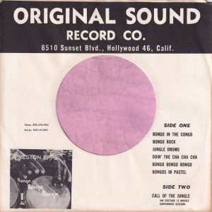Original Sound U.S.A. Company Sleeve 1959 – 1964
