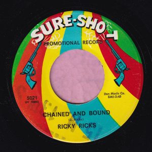 "Ricky Ricks "" Chained And Bound "" Sure-Shot Records Demo Vg+"
