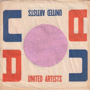 United Artists U.S.A. Company Sleeve 1960 – 1961