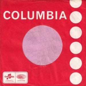 Columbia Uk Company Sleeve 1969 – 1970