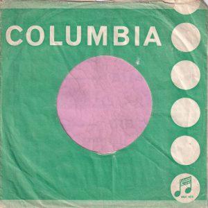"Columbia U.K. 6′ to 50′ Tokens , correctly printed "" Industries "" Company Sleeve 1963 – 1964"