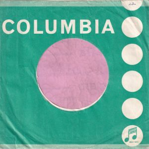 """Columbia U.K. 6′ to 50′ Tokens , incorrectly printed """" Instruments """" Company Sleeve 1963 – 1964"""