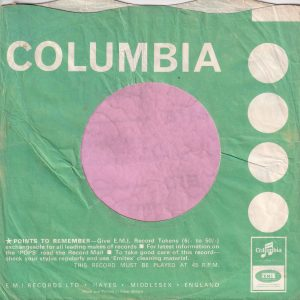 "Columbia U.K. Miners Make-Up Advert "" Miners For Pop Pickers "" Company Sleeve 1964 – 1965"