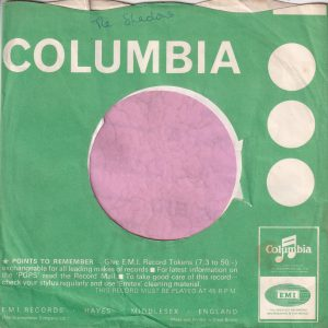 """Columbia Uk Miss Disc Advert  """" Miss Disc Makes Four New Hits """" Company Sleeve 1967"""