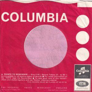 "Columbia U.K. Morphy Richards Advert "" All Set To Go "" Company Sleeve 1965 – 1966"