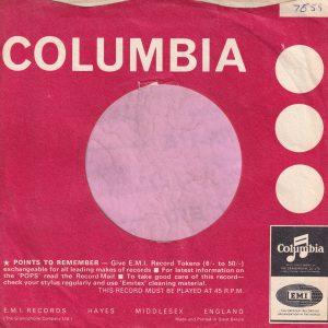 "Columbia U.K. Morphy Richards Advert "" In Half The Time "" Company Sleeve 1965 – 1966"