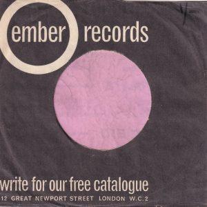 Ember Records U.K. Company Sleeve 1963 – 1968