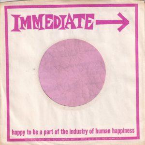 Immediate U.S.A. Normal Paper Company Sleeve 1967 – 1968