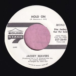 "Jackey Beavers "" Hold On "" Sound Stage 7 Demo Vg+"