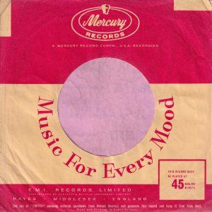Mercury Records U.K. Company Sleeve 1958 – 1960