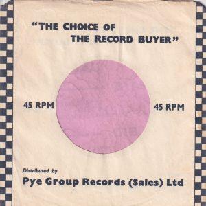 Mercury U.K. Company Sleeve 1957 – 1958