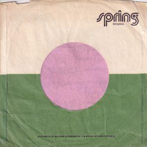 Spring Records U.S.A. 1700 Broadway Address Company Sleeve 1974 – 1977