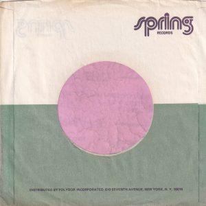 Spring Records U.S.A. 810 Seventh Avenue Address , Purple Print Company Sleeve 1977 – 1983
