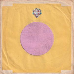 Warner Bros. Records U.K. Logo Printed In Colour Company Sleeve 1975 – 1978