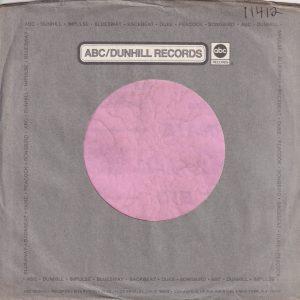 ABC Dunhill Records U.S.A. Impulse , Bluesway , Backbeat , Duke , Peacock, Songbird 8255 Beverly Boulv. Adrress Dark Grey Company Sleeve 1972 – 1973