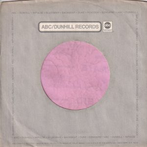 ABC Dunhill Records U.S.A. Impulse , Bluesway , Backbeat , Duke , Peacock, Songbird 8255 Beverly Boulv. Adrress , Grey Company Sleeve 1972 – 1973