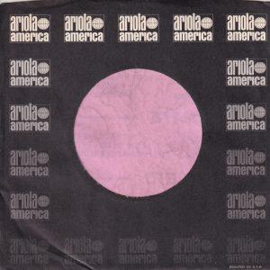 Ariola America U.S.A. Company Sleeve 1975 – 1979