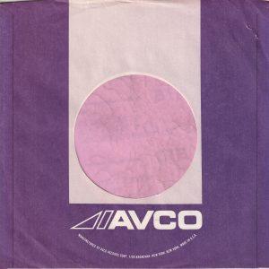 Avco U.S.A. 1700 Broadway Address Purple and Pink Company Sleeve 1973 – 1975