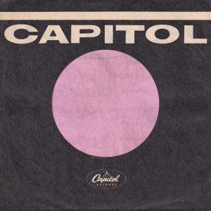 Capitol Records U.S.A. Flat Finish Used Occasionally Company Sleeve 1962 -1967