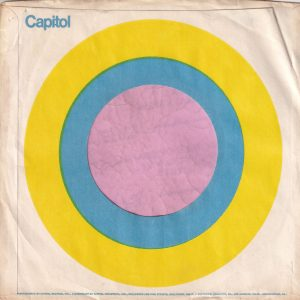 Capitol Records U.S.A. Blue And Yellow Target Design , No Logo Top Corner , Address And Factory Details Printed In One Line E78ICS Printed On One Side Company Sleeve 1969