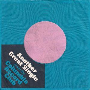 Columbia Record Club U.S.A. Company Sleeve 1966 – 1967