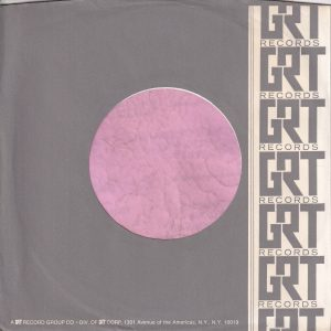 GRT Records U.S.A. Company Sleeve Thicker Paper 1970 -1972