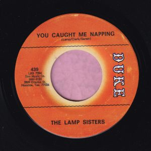 "The Lamp Sisters "" You Caught Me Napping "" Duke Vg+"