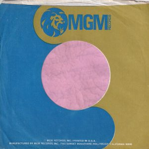 MGM Records U.S.A. Blue And Green With White Text Company Sleeve 1971 – 1976