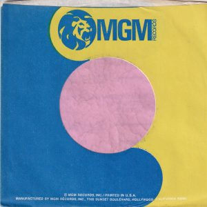 MGM Records U.S.A. Blue And Yellow With White Text Company Sleeve 1971 – 1976
