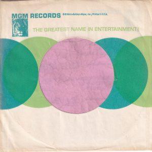 MGM Records U.S.A. Small Lion Logo Reg Details On Back Company Sleeve 1964 – 1966