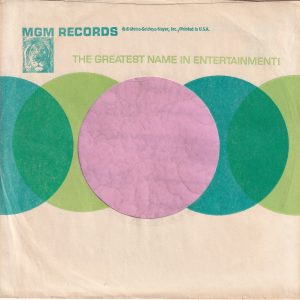 MGM Records U.S.A. Small Lion Logo Reg Details On Front Company Sleeve 1964 – 1966