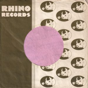 Rhino Records U.K. Company Sleeve 1972 – 1974