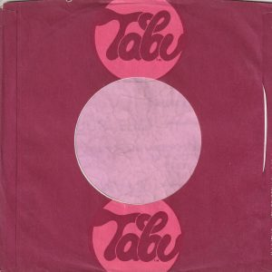 Tabu Records U.S.A. Company Sleeve 1976 – 1977