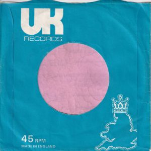 UK Records U.K.  Company Sleeve 1972 – 1975