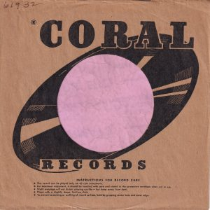 Coral Records U.S.A. No Decca Refrence Company Sleeve 1952 – 1958