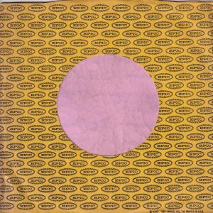 Epic U.S.A. Black Print On Yelow Paper Text On Right Company Sleeve 1961 – 1965