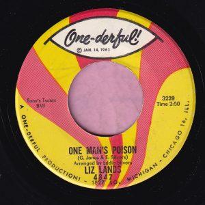 """Liz Lands """" One Man's Poison """" One-deful! Vg+"""