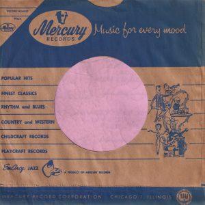 Mercury Records U.S.A. Blue Print On Brown Paper Company Sleeve 1952 – 1957