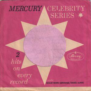 Mercury Records U.S.A. Celebrity Series Company Sleeve