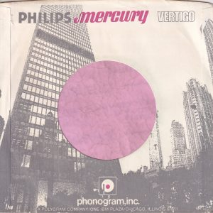 Philips Mercury Vertigo U.S.A. With Buildings Printed Company Sleeve 1972 – 1981