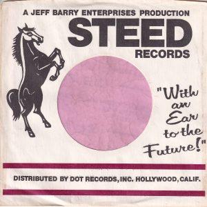 Steed Records U.S.A. Maroon Lines Large Gap Between Maroon Bars Company Sleeve 1967 – 1971