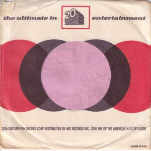 20th Century Fox Records U.S.A. Company Sleeve 1966 – 1970