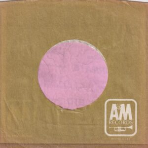 A&M Records U.S.A. Used For Exports Company Sleeve