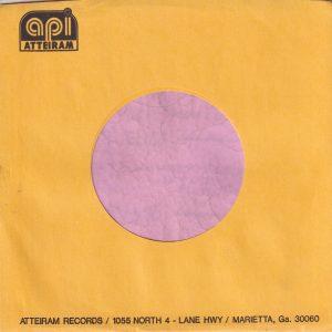 Atteiram Records U.S.A. Company Sleeve 1972