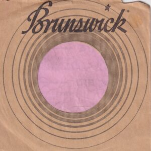 Brunswick U.S.A. Brown Paper With Jackie Wilson 45's / Lp Adverts On Back Company Sleeve 1964